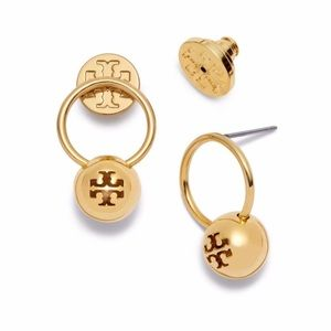 Authentic Tory Burch Logo Gold earrings